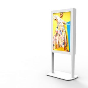 Freestanding Ultra High Brightness Digital Posters - White Background Image