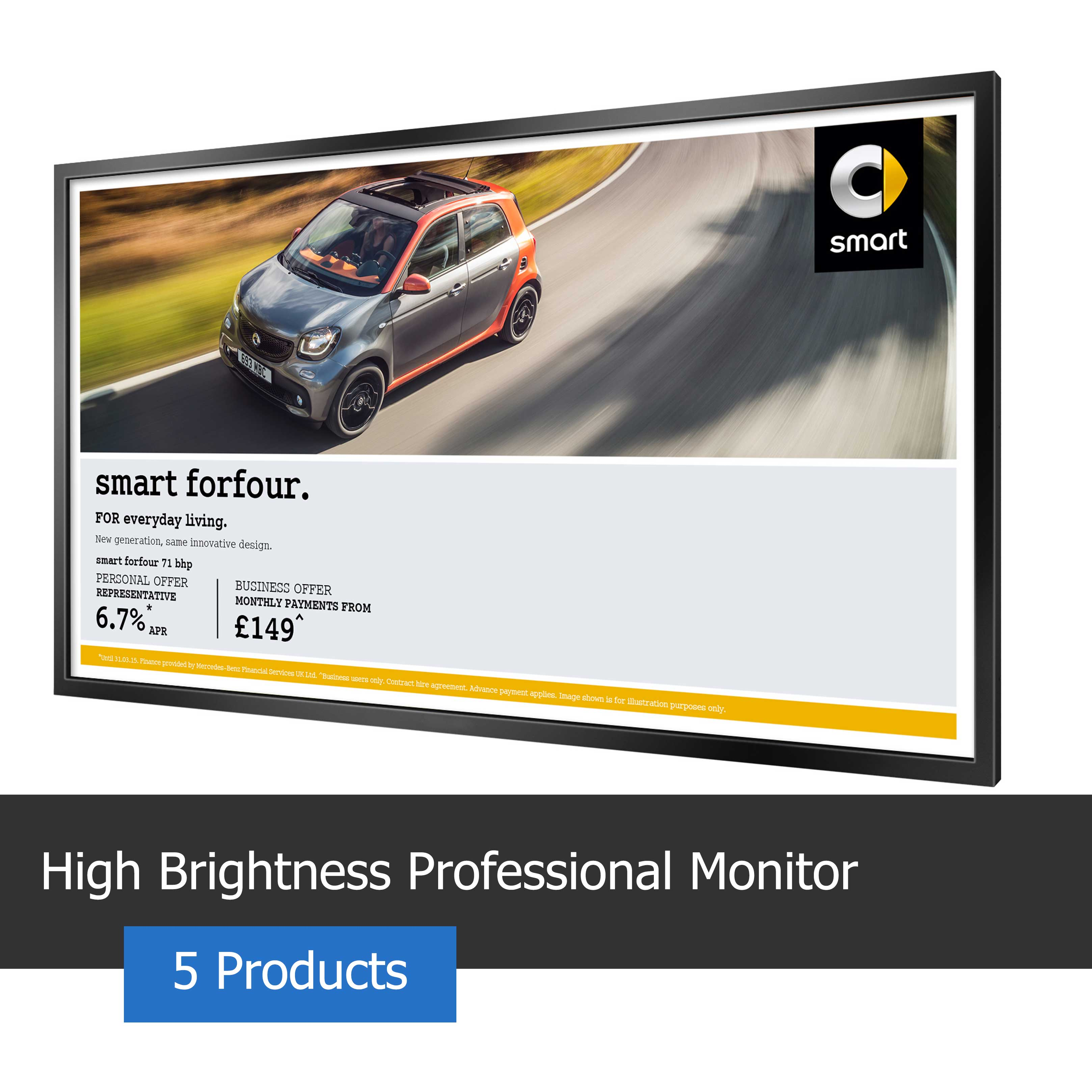Image of a high brightness professional monitor