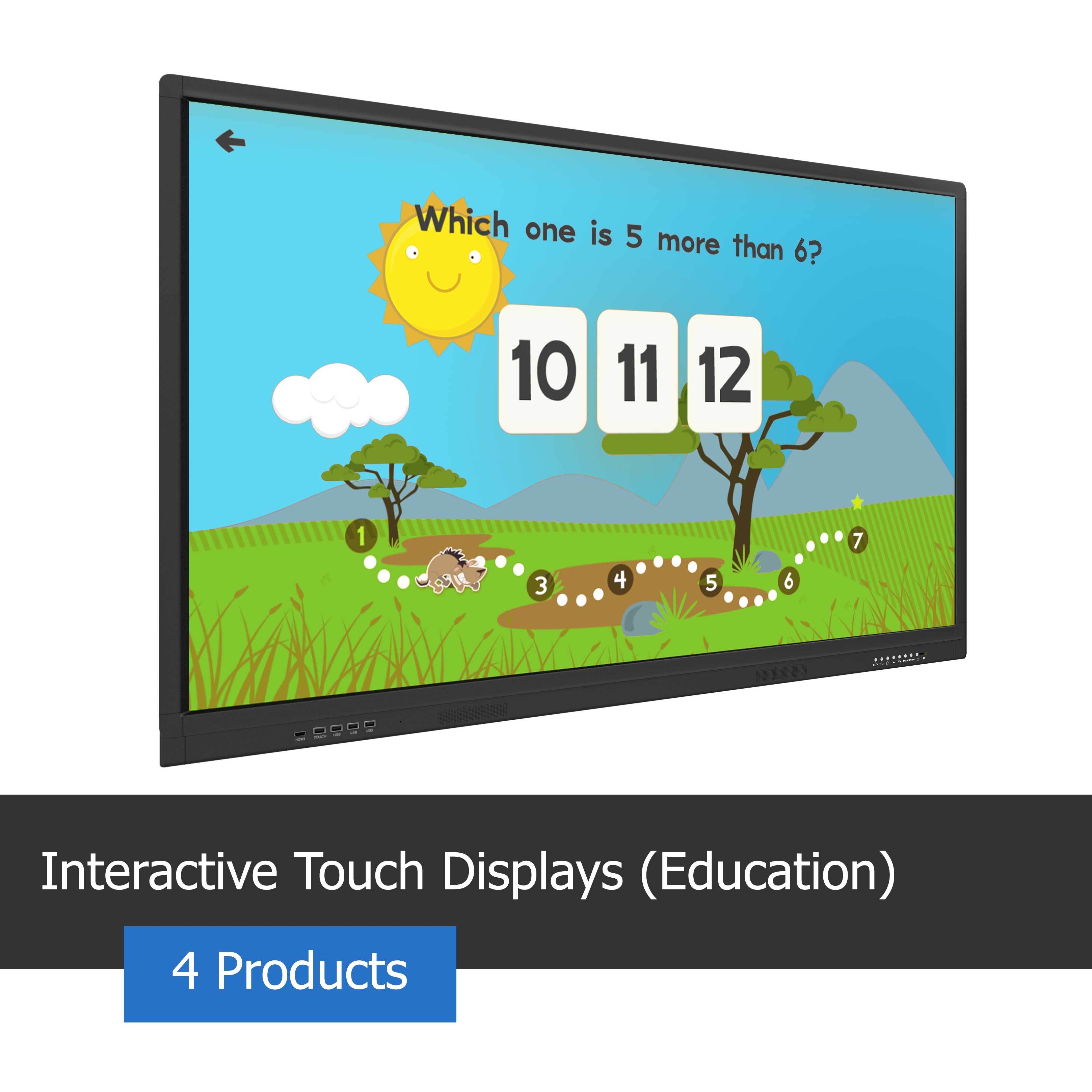 Image of an interactive touch display for the classroom