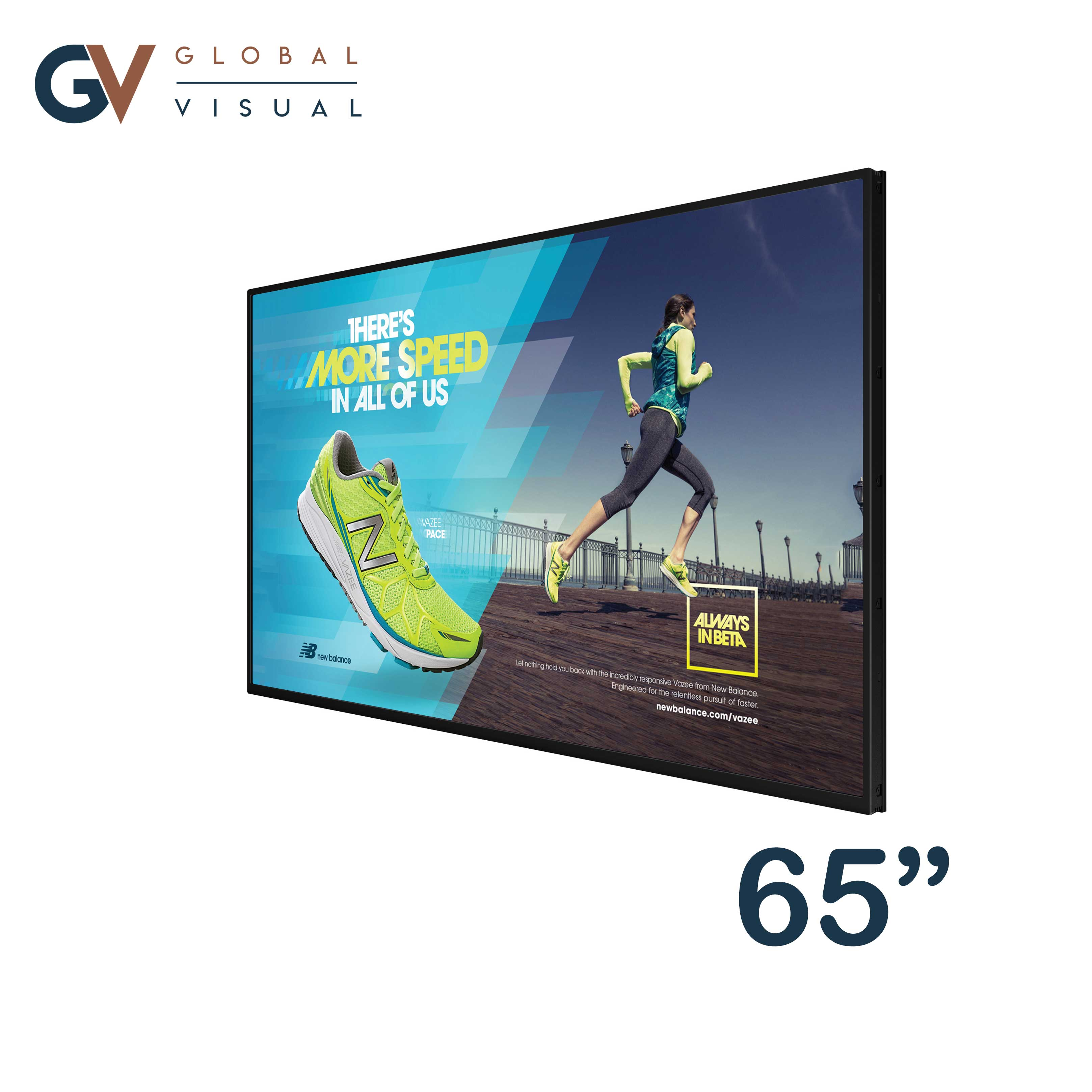 "Image of a 65"" 4K commercial display"