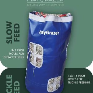 Play trickle slow feed hay bag net
