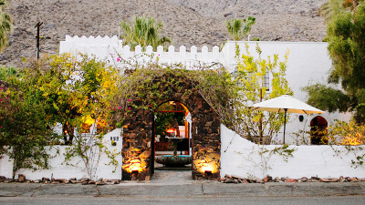 This Moroccan inspired gem is unique in Palm Springs. Just a bit off the beaten path, tucked up against the mountains, its tranquility will refresh you.