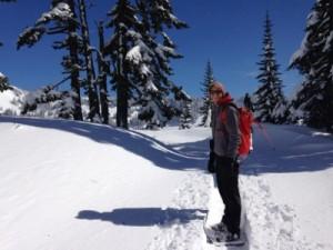 mt rainier snowshoeing