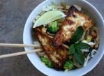 Asian Noodle Bowls with Crispy Tofu