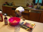 Cooking dog chef