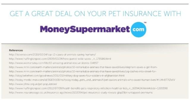 money supermarket pet insurance infographic