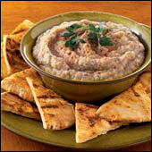 Delicious eggplant dip for all! Photo Credit: hungry-girl.com