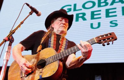 Willie Nelson performing at Global Green USA's 10th Annual Pre-Oscar Party at Avalon Hollywood on February 20, 2013. Photo Credit: Getty Images