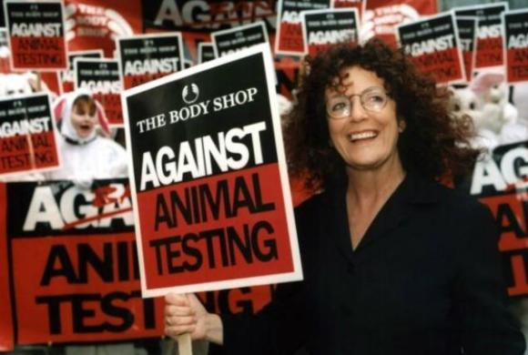 The late Anita Roddick, founder of the Body Shop, was a leading campaigner for cruelty-free beauty. Photo Credit: PR Newswire Europe
