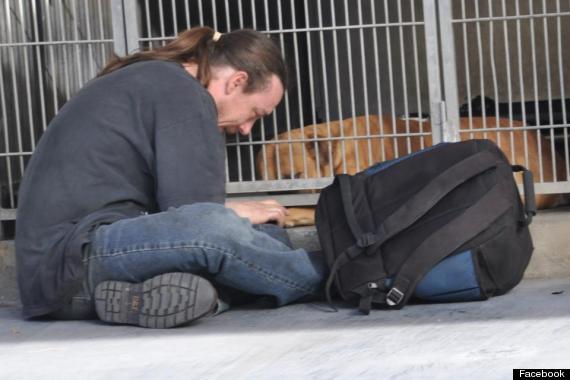 Thomas and Buzz at the shelter. Photo Credit: Facebook