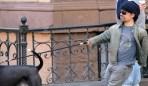 Peter Dinkalge Walks his dog
