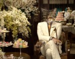 the great gatsby with cat head face