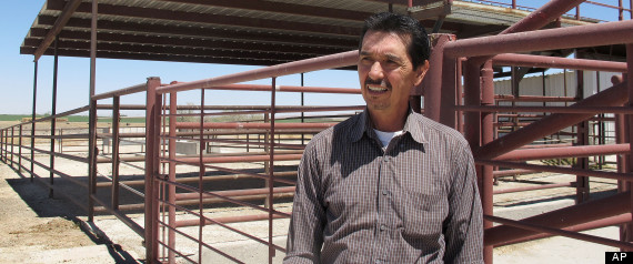 Valley Meat Co. owner Rick De Los Santos stands in a corral area outside the former cattle slaughterhouse he has converted to a horse slaughter facility in Roswell, N.M., Monday, April 15, 2013. The plant --- which has been waiting more than a year for federal approval of its operations -- has become ground zero for an emotional, national debate over a return to domestic horse slaughter. Photo Credit: AP Photo/Jeri Clausing