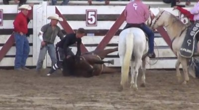 Duke went into convulsions after possibly being hit with a shocking device. Photo credit: Youtube