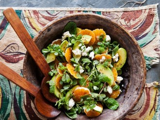 Try this avocado and tangerine salad with jalapeño vinaigrette today! Photo Credit: Bon Appétit