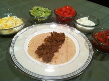 A tasty whole wheat soft taco with MorningStar Farms' Grillers Recipe Crumbles and all the fixings./Photo credit: Lisa Singer