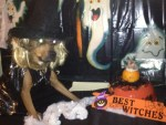 witch pumpkin dog and hamster, pets in halloween dog costumes