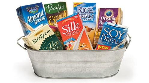 Rice milk and soy milk are great dairy-free milk alternatives.
