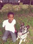 Boy & shepherd foto