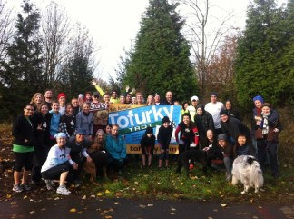(VEGETARIAN) Runners from the Tofurky Trot 2012.