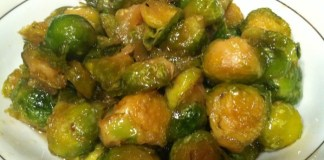 Maple Syrup Roasted Brussels Sprouts, Vegetarian Recipe
