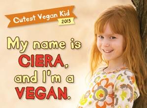 Ciera won the chance to be in this vegan ad. (VEGAN/VEGETARIAN)
