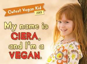 Ciera won the chance to be in this vegan ad. (VEGAN/VEGETARIAN)