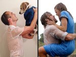 Man and Dog Reenact movie scene from The Notebook