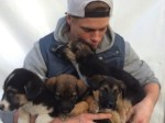 Olympic Skier Gus Kenworthy with puppies