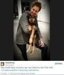 Holly Brooks twitter, tweets at Lindsey Jacobellis sochi stray dog rescue