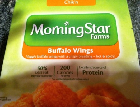 "MorningStar Buffalo ""Wings"" are a delicious alternative for vegetarians and anyone looking for a low fat version of the chi/Photo credit: Lisa Singer"