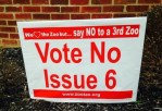 Columbus Zoo tax, Vote No on Issue 6 sign