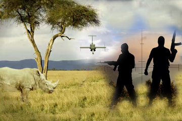 Unmanned aerial surveillance drones are being deployed to search for poachers in Africa and Asia./Photo credit: live science.com