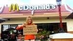 Kathy Freston outside McDonald's