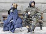 homeless man and dog canada
