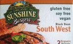 organic sunshine vegetarian burgers