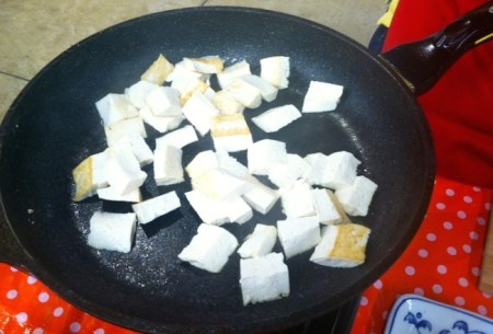House Foods' Extra Firm Organic Tofu is a high protein, low fat meatless alternative to add to your stir fry./Photo credit: Lisa Singer