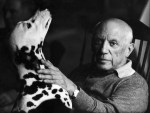 Picasso and his Dalmatian
