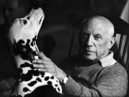 Pets, life with pets, dogs, cute dogs, Picasso, Pablo Picasso, Dalmatian