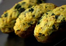 (VEGAN/VEGETARIAN RECIPES) This twice-baked potato recipe adds in kale.
