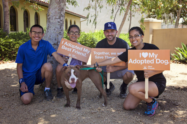 The Tovar family adopted their dog, Madeline, from the Best Friends Pet Adoption & Spay/Neuter Center. Photo credit: Best Friends Animal Society
