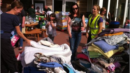 The public has donated many items including bedding, dog food, and bowls to the Manchester Dogs' Home. Photo credit: BBC News