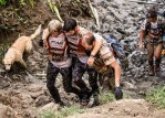 dog with men during Adventure Racing World Championship