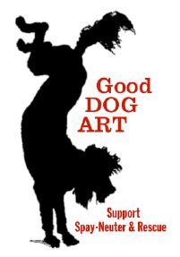 Some of the artists involved in Good Dog Art are William Wegman, Jessie Tarbox Beals, Eliot Erwitt, André Kertész, and Nicholas Nixon.