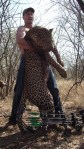 walter palmer with trophy kill, hunted leopard