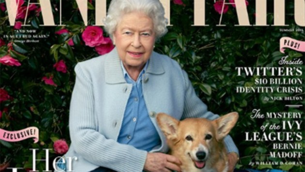 olly, Willow, Vulcan, Candy—and The Queen. Read more about the exclusive Annie Leibovitz portrait honoring the Queen on her 90th birthday Photo Credit: Vanity Fair