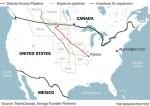 Dakota Access and Keystone XL pipelines on map