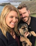 california couple with lost dog Brussels Griffon Theo