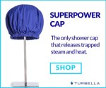 best shower cap for long hair adjustable fit Superpower Cap by Turbella