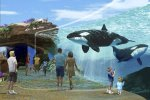 artist image of SeaWorld killer whale habitat expansion project Blue World